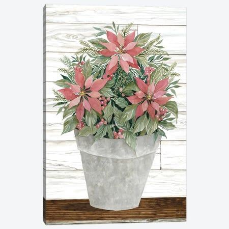 Pot of Poinsettias Canvas Print #CJA356} by Cindy Jacobs Canvas Artwork