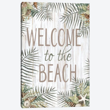 Welcome To The Beach Canvas Print #CJA361} by Cindy Jacobs Canvas Art