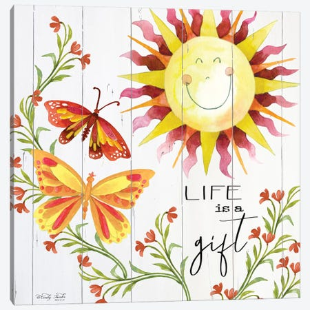 Life is a Gift 3-Piece Canvas #CJA41} by Cindy Jacobs Canvas Art