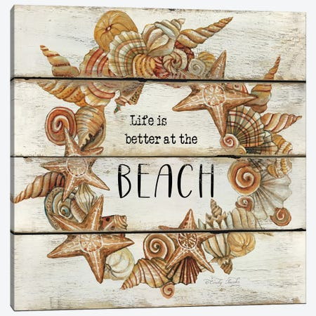 Life is Better at the Beach Canvas Print #CJA42} by Cindy Jacobs Canvas Art