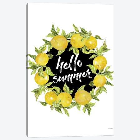 Hello Summer Lemons Canvas Print #CJA450} by Cindy Jacobs Canvas Artwork