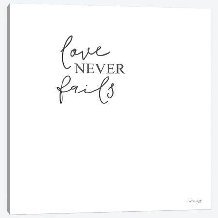 Love Never Fails Canvas Print #CJA462} by Cindy Jacobs Canvas Print