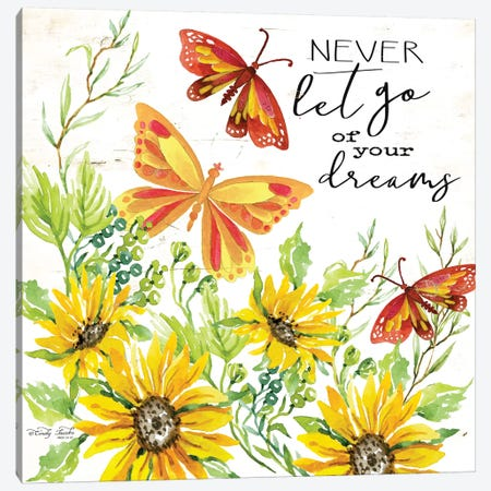 Never Let Go of your Dreams 3-Piece Canvas #CJA54} by Cindy Jacobs Canvas Artwork