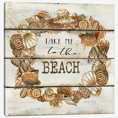 Take Me to the Beach Canvas Print #CJA59} by Cindy Jacobs Canvas Print