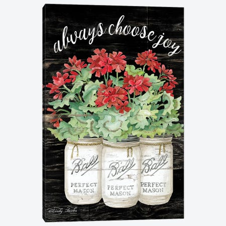 White Jars - Always Choose Joy Canvas Print #CJA66} by Cindy Jacobs Canvas Art Print