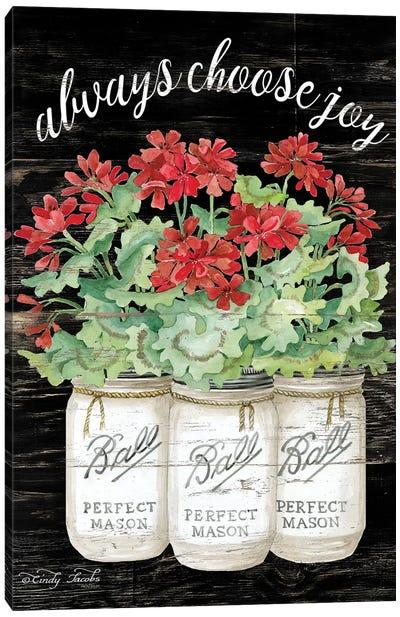 White Jars - Always Choose Joy Canvas Art Print