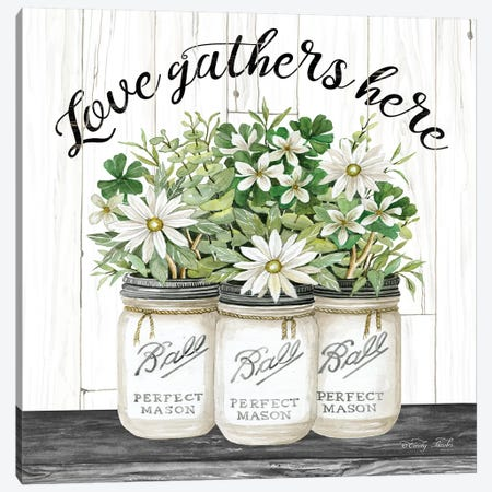 White Jars - Love Gathers Here Canvas Print #CJA67} by Cindy Jacobs Art Print