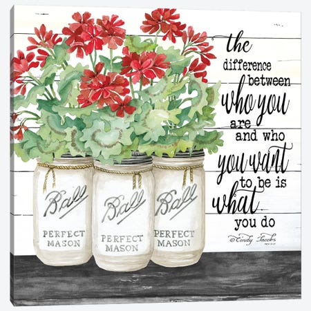 White Jars - What You Do Canvas Print #CJA69} by Cindy Jacobs Canvas Wall Art