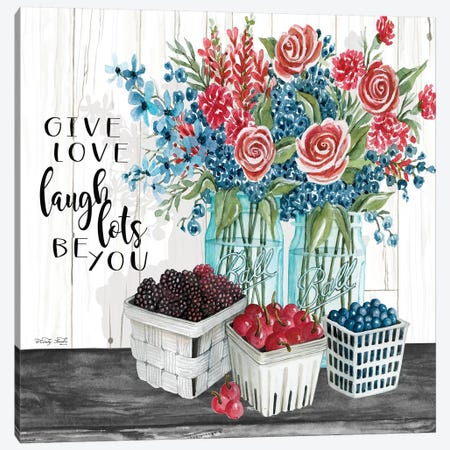 Give Love - Laugh Lots - Be You 3-Piece Canvas #CJA79} by Cindy Jacobs Canvas Art Print