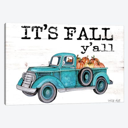 It's Fall Y'all Canvas Print #CJA84} by Cindy Jacobs Art Print