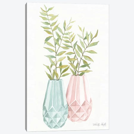 Pastel Geometric Vase I   Canvas Print #CJA87} by Cindy Jacobs Canvas Print