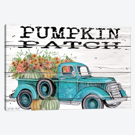 Pumpkin Patch Truck Canvas Print #CJA91} by Cindy Jacobs Canvas Art Print