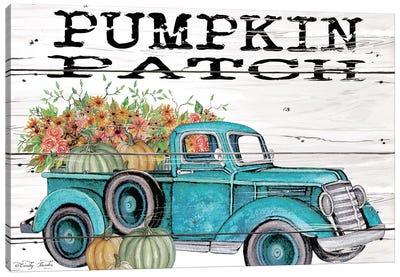 Pumpkin Patch Truck Canvas Art Print