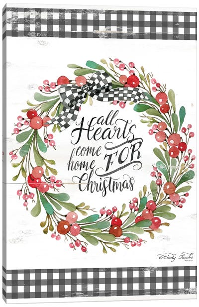 All Hearts Come Home For Christmas Canvas Art Print