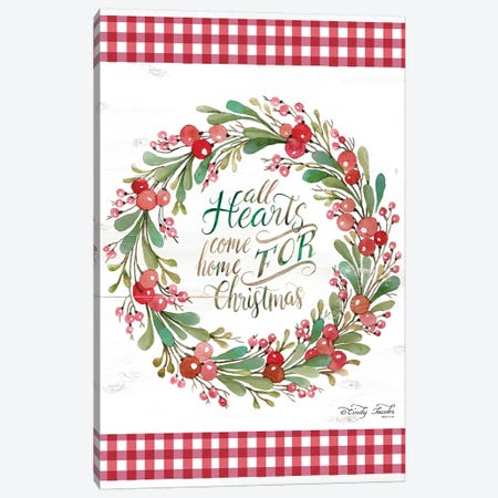 All Hearts Come Home For Christmas  Canvas Print #CJA95} by Cindy Jacobs Canvas Wall Art