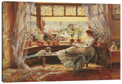 Reading By The Window, Hasti Canvas Art Print