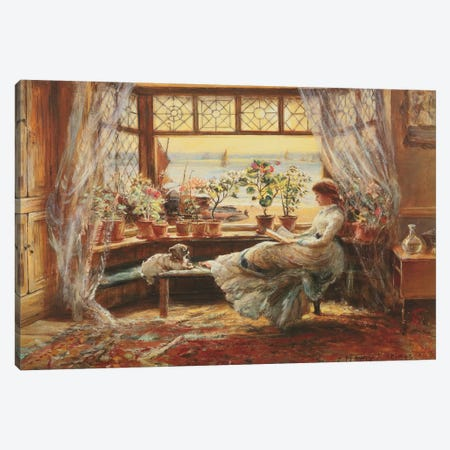 Reading By The Window, Hasti Canvas Print #CJL1} by Charles James Lewis Canvas Print