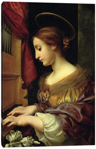 St. Cecilia Playing The Organ, 1671 Canvas Art Print