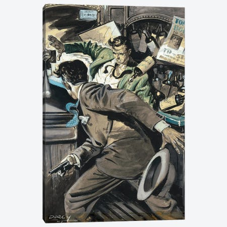 Detective III Canvas Print #CKA10} by Ernest Chiriacka Canvas Artwork