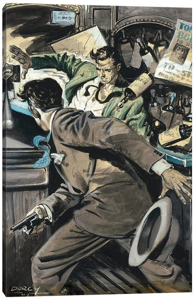 Detective III Canvas Art Print