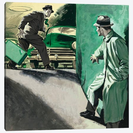 Detective IV Canvas Print #CKA11} by Ernest Chiriacka Canvas Artwork