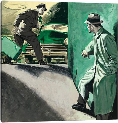 Detective IV Canvas Art Print