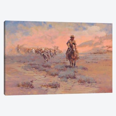 Long Horns Canvas Print #CKA31} by Ernest Chiriacka Canvas Art