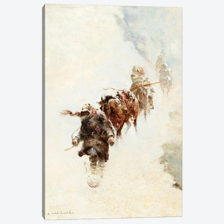 Mountain Trappers Canvas Print #CKA34} by Ernest Chiriacka Canvas Art Print