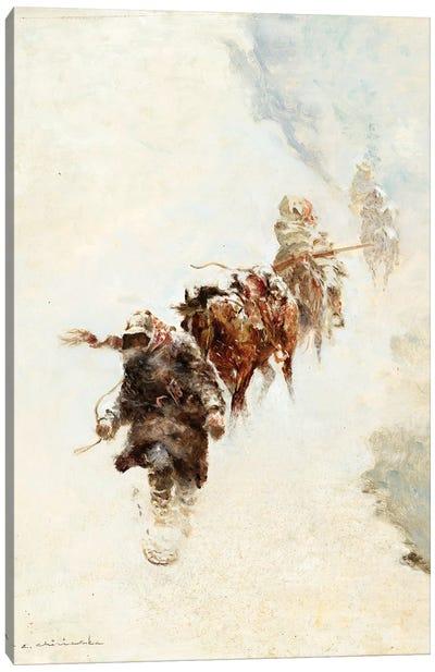 Mountain Trappers Canvas Art Print