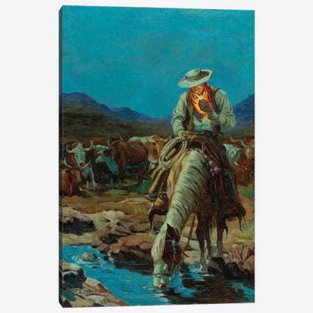 On The Range Canvas Print #CKA38} by Ernest Chiriacka Canvas Wall Art