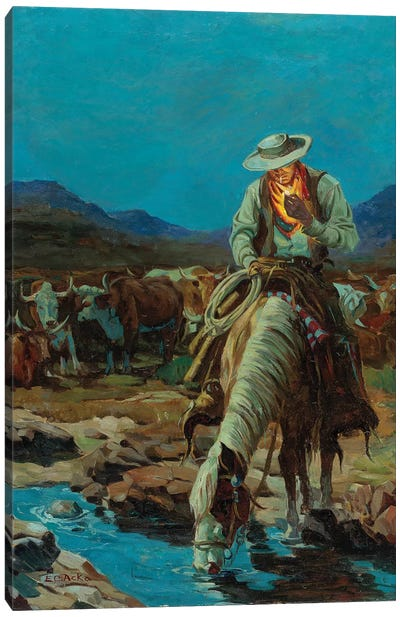 On The Range Canvas Art Print