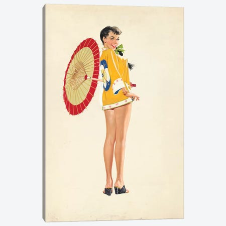 China Girl Canvas Print #CKA3} by Ernest Chiriacka Canvas Print