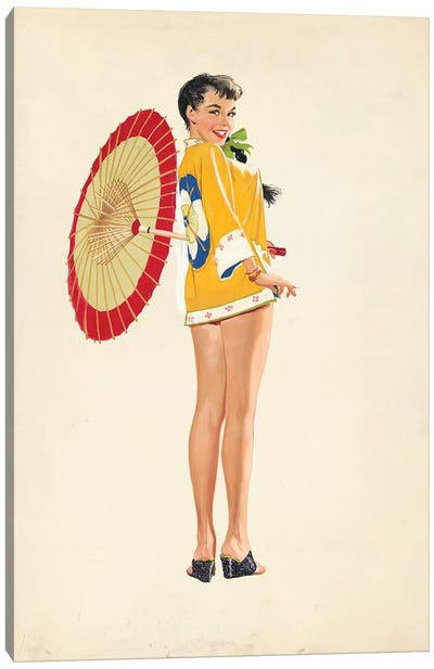 China Girl Canvas Art Print