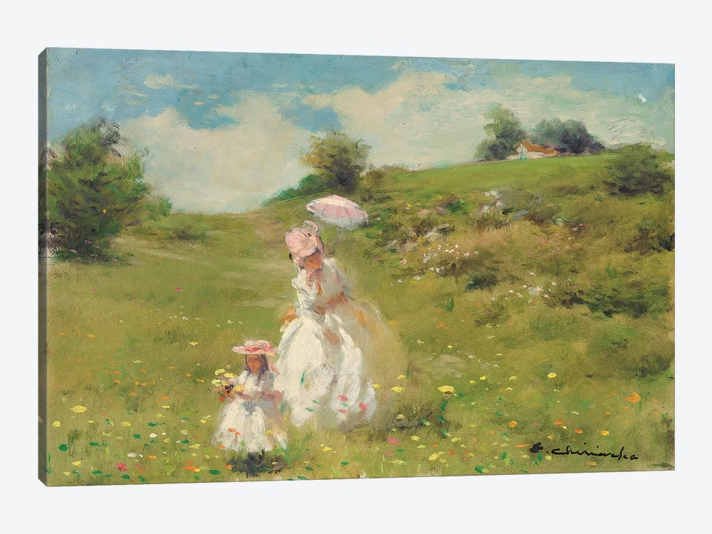 Picking Daisies 1-piece Canvas Art Print