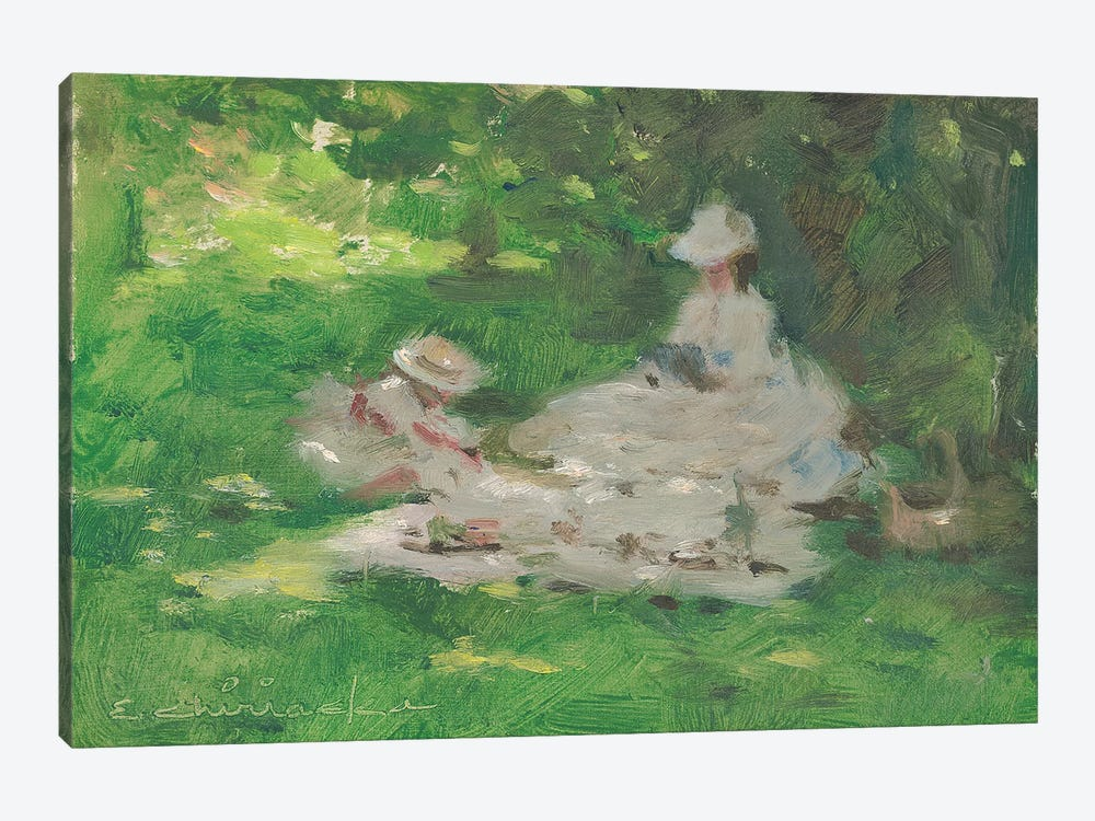 Picnic In The Park by Ernest Chiriacka 1-piece Canvas Art