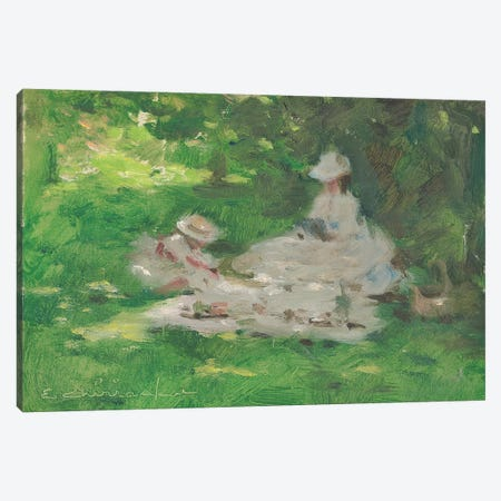 Picnic In The Park Canvas Print #CKA41} by Ernest Chiriacka Canvas Art Print