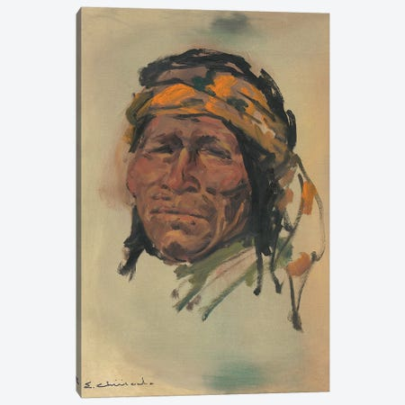 Portrait Of A Brave Canvas Print #CKA43} by Ernest Chiriacka Canvas Print