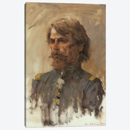 Portrait Of General Custer Canvas Print #CKA44} by Ernest Chiriacka Canvas Artwork