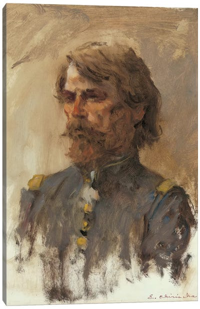 Portrait Of General Custer Canvas Art Print