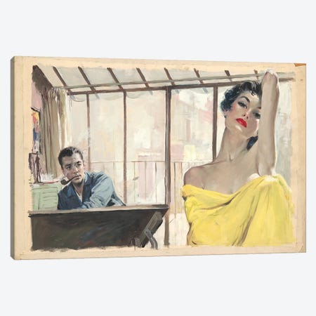 Posing Canvas Print #CKA45} by Ernest Chiriacka Canvas Artwork