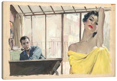 Posing Canvas Art Print