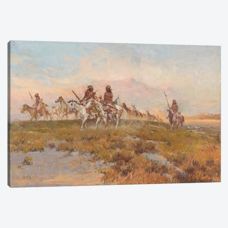 Returning From The Raid Canvas Print #CKA50} by Ernest Chiriacka Canvas Artwork
