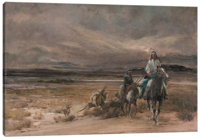 Riders In The Storm Canvas Art Print