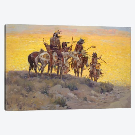 Scouts Along The Prairie Canvas Print #CKA55} by Ernest Chiriacka Canvas Art Print