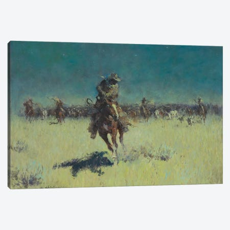 Starry Night Wrangle Canvas Print #CKA58} by Ernest Chiriacka Canvas Artwork