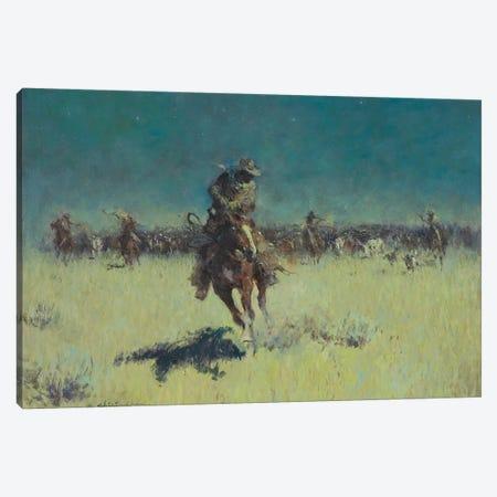 Starry Night Wrangle Canvas Print #CKA58} by Ernest Chiriacka Canvas Artwork