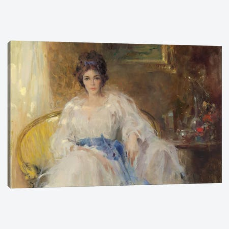 The Blue Sash Canvas Print #CKA61} by Ernest Chiriacka Canvas Print