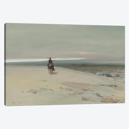 The Lone Rider Canvas Print #CKA64} by Ernest Chiriacka Canvas Art