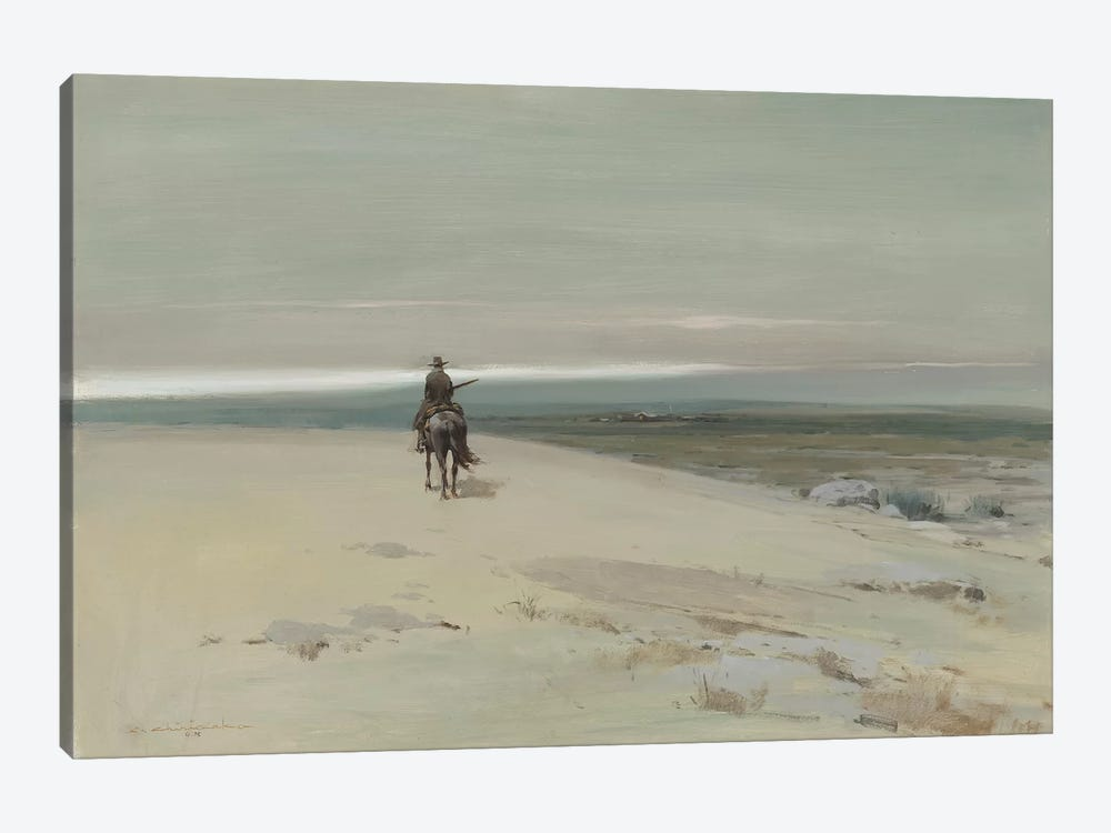 The Lone Rider by Ernest Chiriacka 1-piece Canvas Art Print