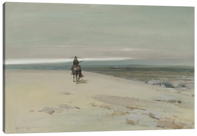 The Lone Rider Canvas Art Print
